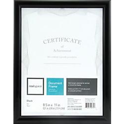 Realspace™ Photo/Document Frame, Plastic, 8-1/2