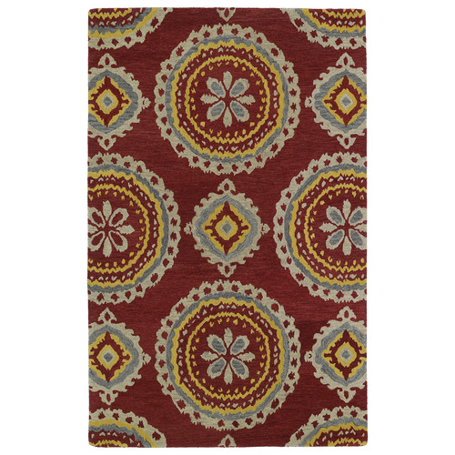 Kaleen Global Inspirations Red Area Rug