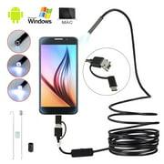 Willstar 3in1 2M USB Earpick Mini Camera Endoscope Waterproof 6 LED Ear Cleaning Tool Inspection Borescope HD Visual Ear Spoon