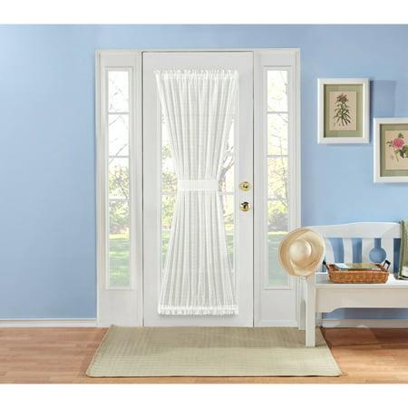 (Montauk Novelty Sheer Door Panel With Tieback)