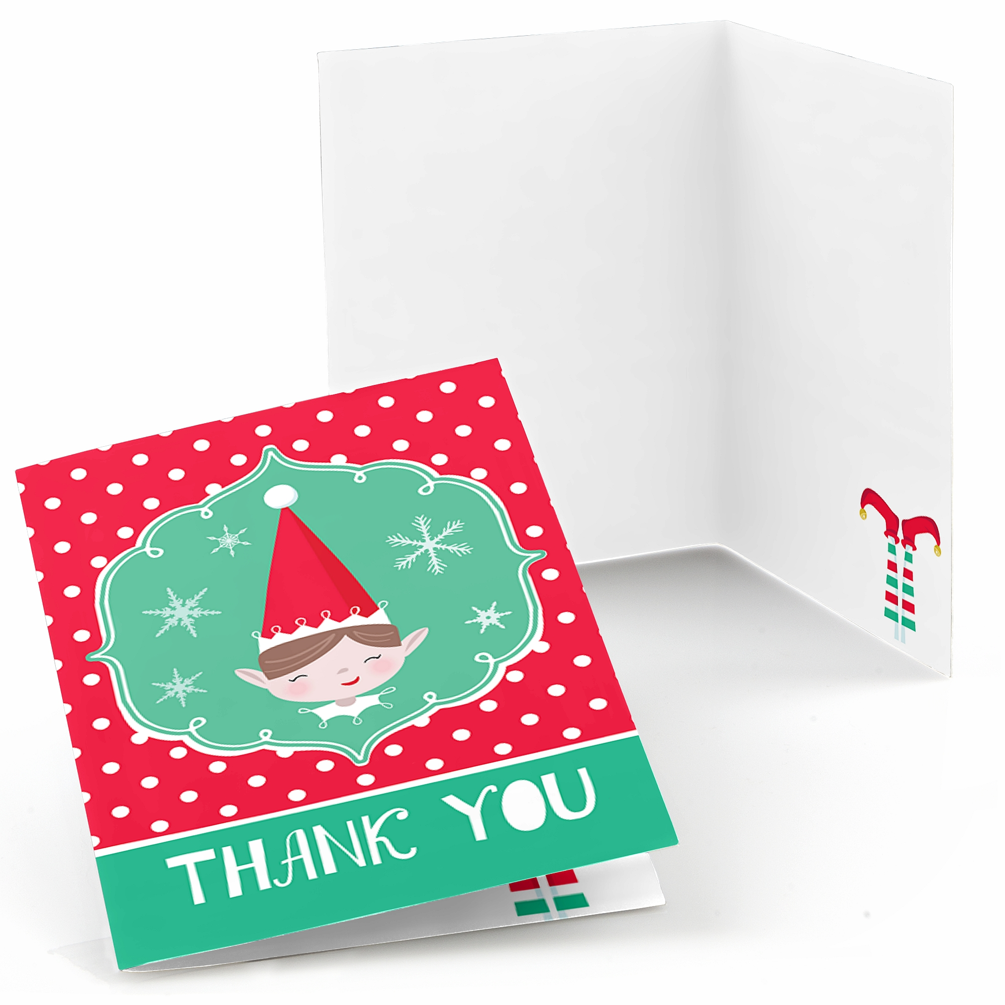 Elf Squad - Kids Elf Christmas and Birthday Party Thank You Cards (8 count)