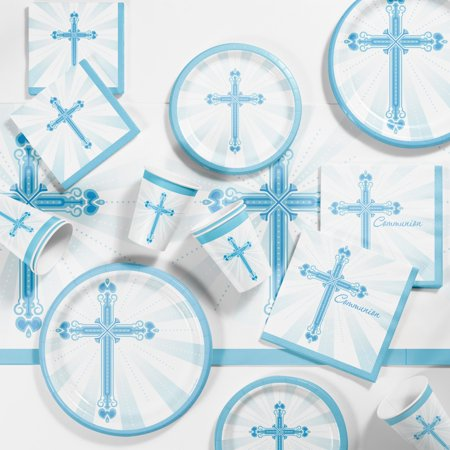 Communion Blessings Blue Tableware - Holy Communion Tableware