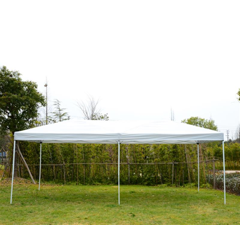 Outsunny 10' x 20' Pop-Up Canopy Shelter Party Tent w/ Mesh Walls - Beige