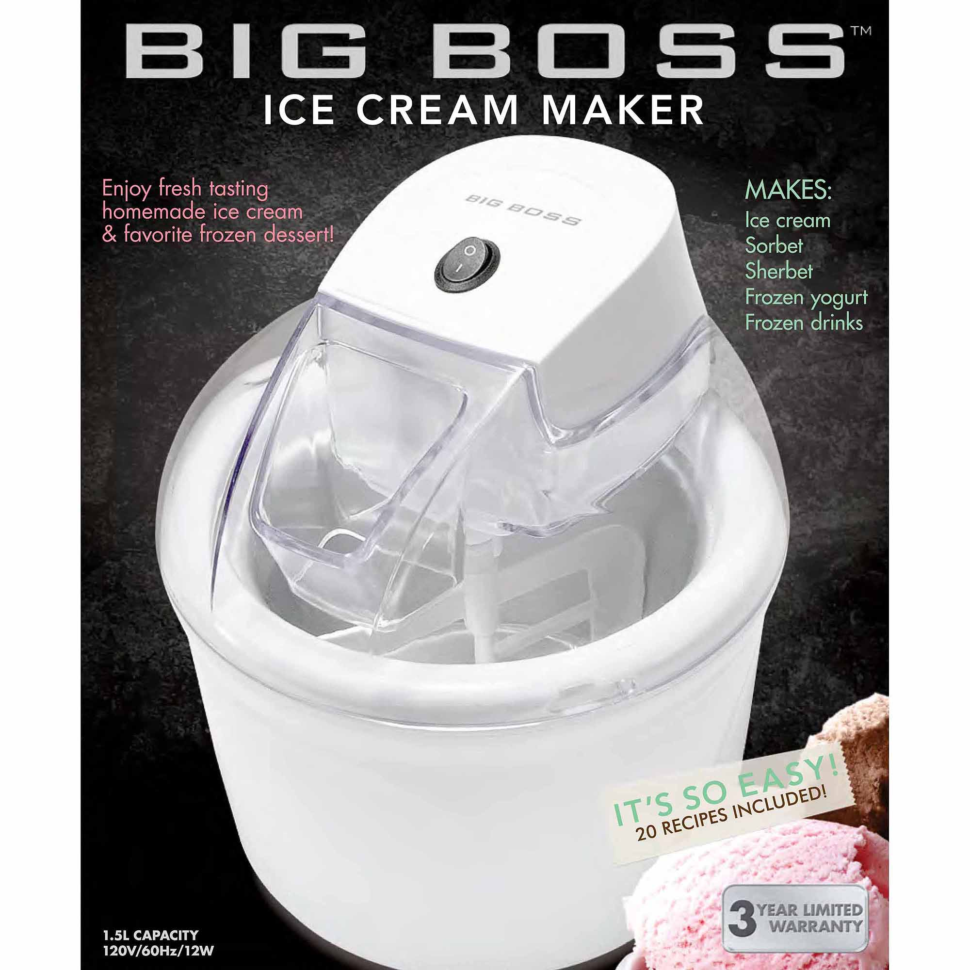 Big Boss 1.5-Liter Ice Cream Maker, White