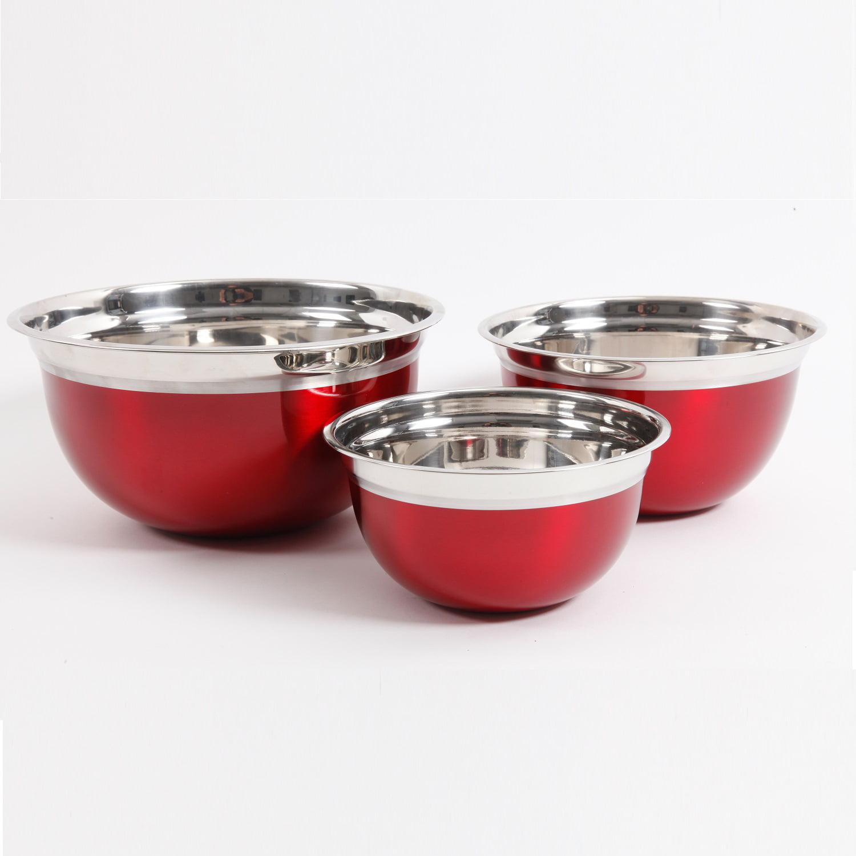 Oster Rosamond 3 Pc. Mixing Bowl Set, Turquoise
