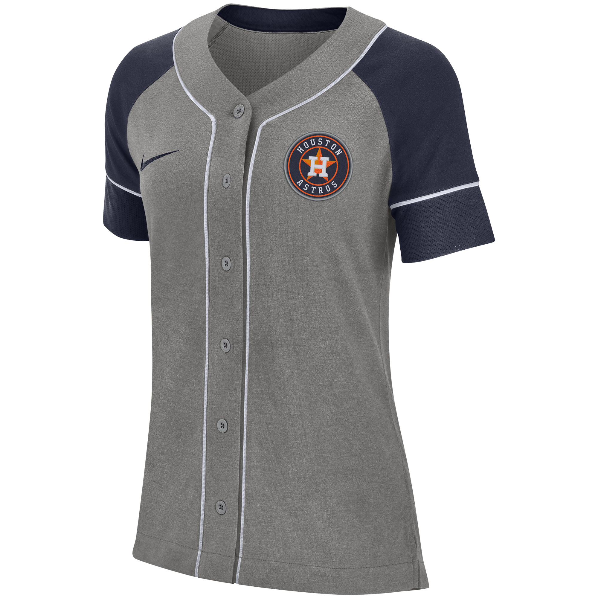 various colors 1a635 1f3db Houston Astros Nike Women's Classic Baseball Jersey - Gray