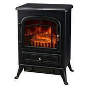 HomCom 16 in. 1500 Watt Free Standing Electric Fireplace