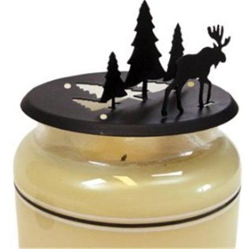 Village Wrought Iron C-PLB-22-83 Moose & Bear - Table Top Pillar Candle Holder