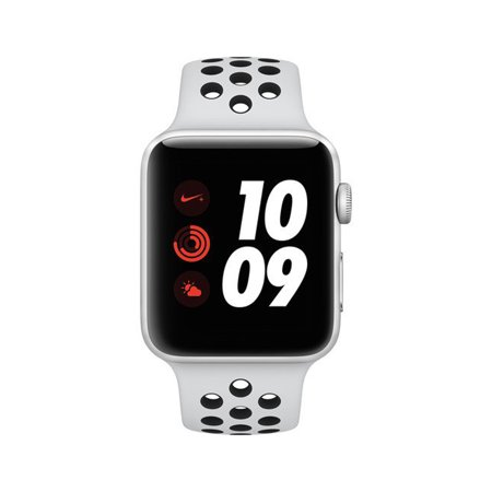 Apple Watch Nike+ Series 3,42MM, GPS + Cellular, Silver Aluminum Case, Pure  Platinum/Black Nike Sport Band (Refurbished)