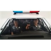 American Diorama 23826 Seated Police Officers 2 Piece Figure Set for 1-24 Models