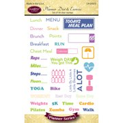 "Justrite Papercraft Clear Stamps 4""X6""-Planner Diet & Exercise"
