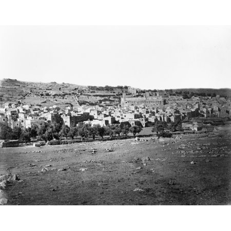 Hebron Na View Of The City Of Hebron The Largest City On The West Bank Photographed By P Bergheim Mid Or Late 19Th Century Rolled Canvas Art     24 X 36