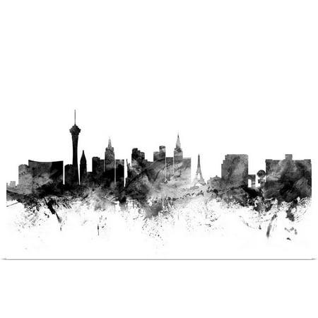 Great BIG Canvas | Rolled Michael Tompsett Poster Print entitled Las Vegas Nevada Skyline](Las Vegas Theme Ideas)