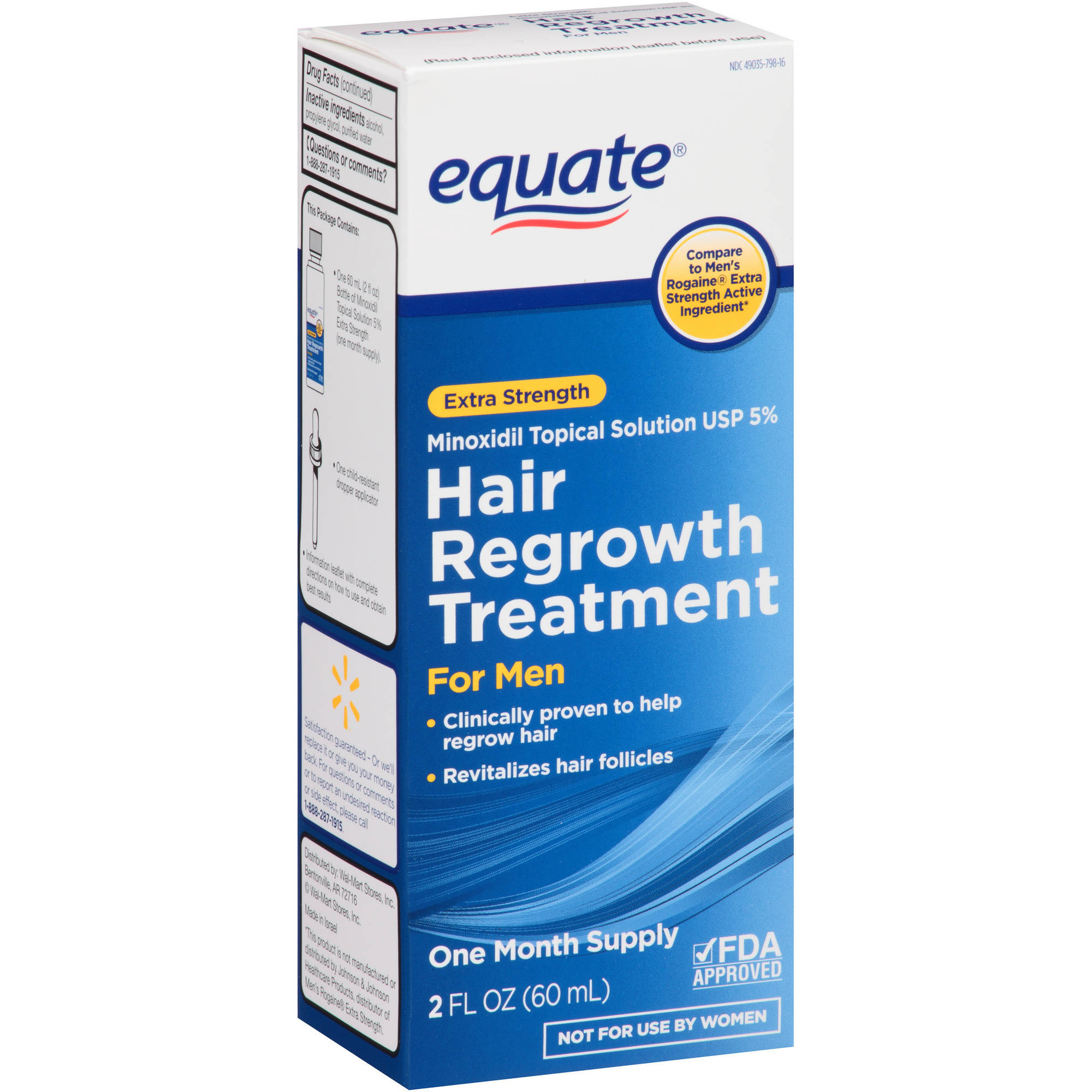 Equate Extra Strength Hair Regrowth Topical Solution for Men, 2 oz