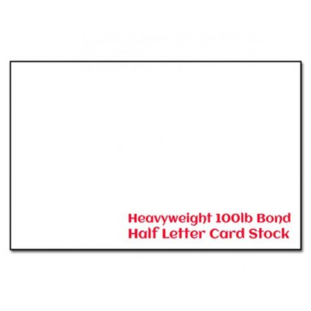 Extra Thick 100lb Bond Card Stock 5 1/2