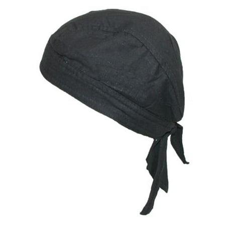 Size one size Cotton Premium Lined Solid Do Rag Bandana, Black (Bandana Joker)
