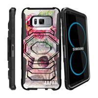 Case for Samsung Galaxy S8   S8 Galaxy Hybrid Case [ Armor Reloaded ] Heavy Duty Case with Belt Clip & Kickstand Skull Collection