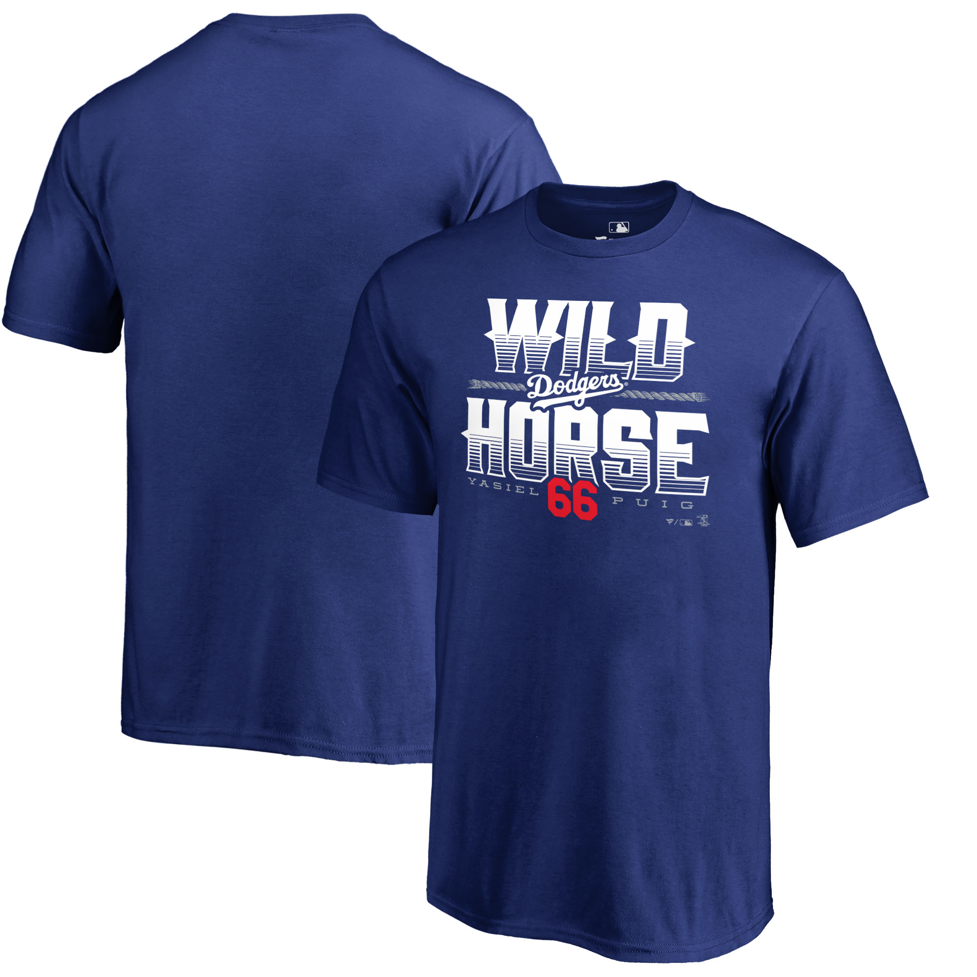 Yasiel Puig Los Angeles Dodgers Fanatics Branded Youth Hometown Collection Wild Horse T-Shirt - Royal