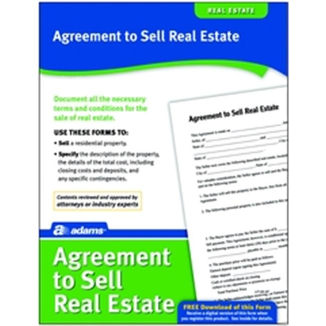 Adams LF120 Agreement To Sell Real Estate Form