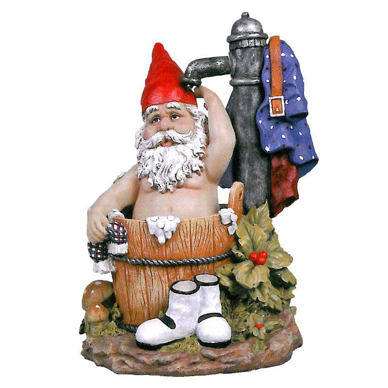 Design Toscano Tubby the Bathing Garden Gnome Statue by Design Toscano