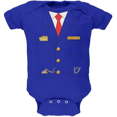 Halloween Train Conductor Costume Royal Soft Baby One Piece - Halloween Royal Baby