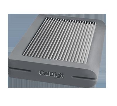 CalDigit Tuff USB Type-C Portable External Hard Drive - 2TB - Gray