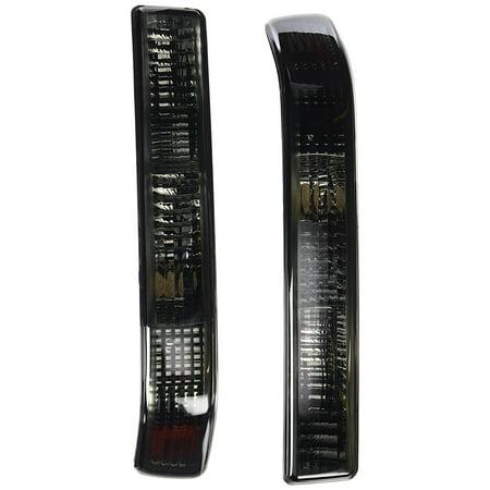 Blazer Smoke Wrap (Spec-D Tuning 2LB-S1098G-RS Chevy S10 Blazer GMC Sonoma Smoke Bumper Lights w/ Amber Reflector )