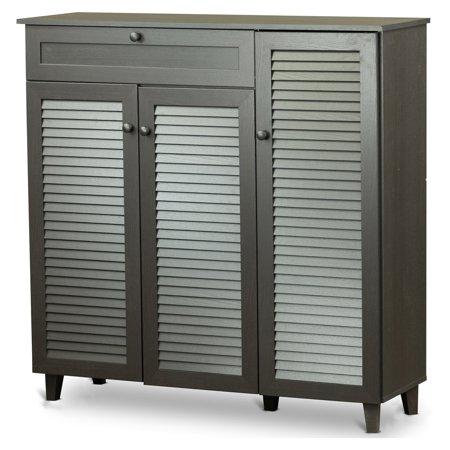 - Baxton Studio Pocillo Wood Shoe Storage Cabinet