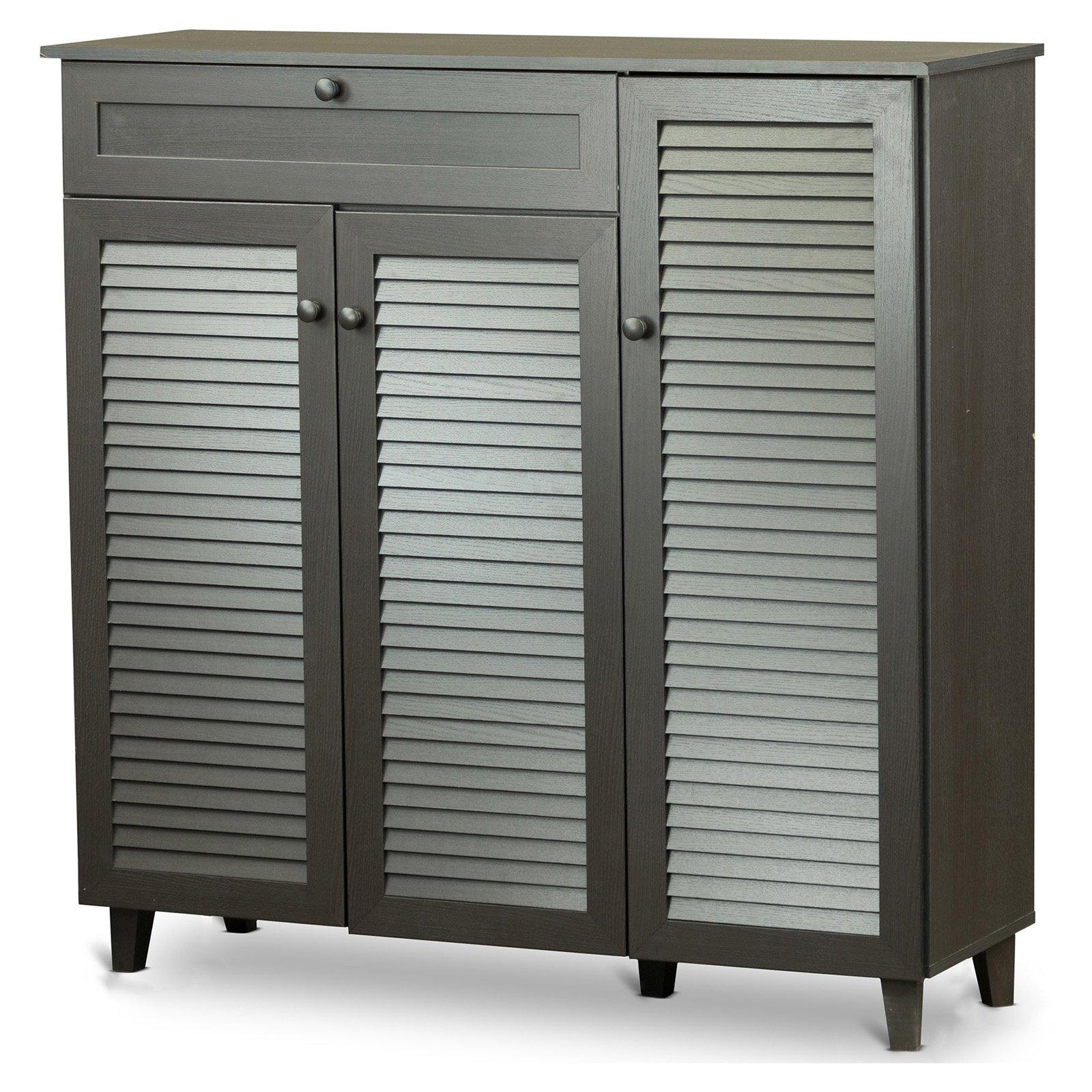 Baxton Studio Pocillo Wood Shoe Storage Cabinet