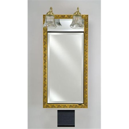 - Afina Corporation SD-LT1740RSOHBK 17 in.x 40 in.Traditional Integral Lighted Single Door- Soho Brushed Black