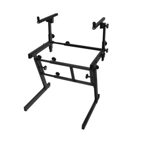 on stage ks7365ej folding heavy duty dual tier z keyboard stand. Black Bedroom Furniture Sets. Home Design Ideas