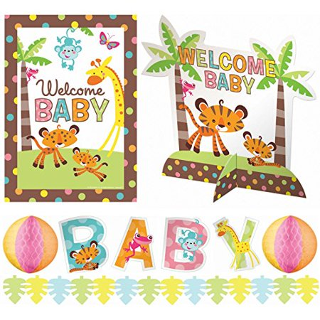 Fisher price baby shower decorating kit for Baby shower decoration kit