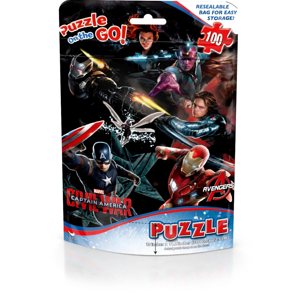 Captain America 100 Piece Puzzle,  Action Movies by Red Bird Hong Kong