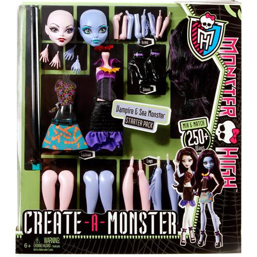 Good Monster High Create a Monster Vampire Sea Monster Set