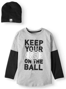 RBX 2-Piece Long Sleeve Graphic T-Shirt with Beanie (Little Boys & Big Boys)