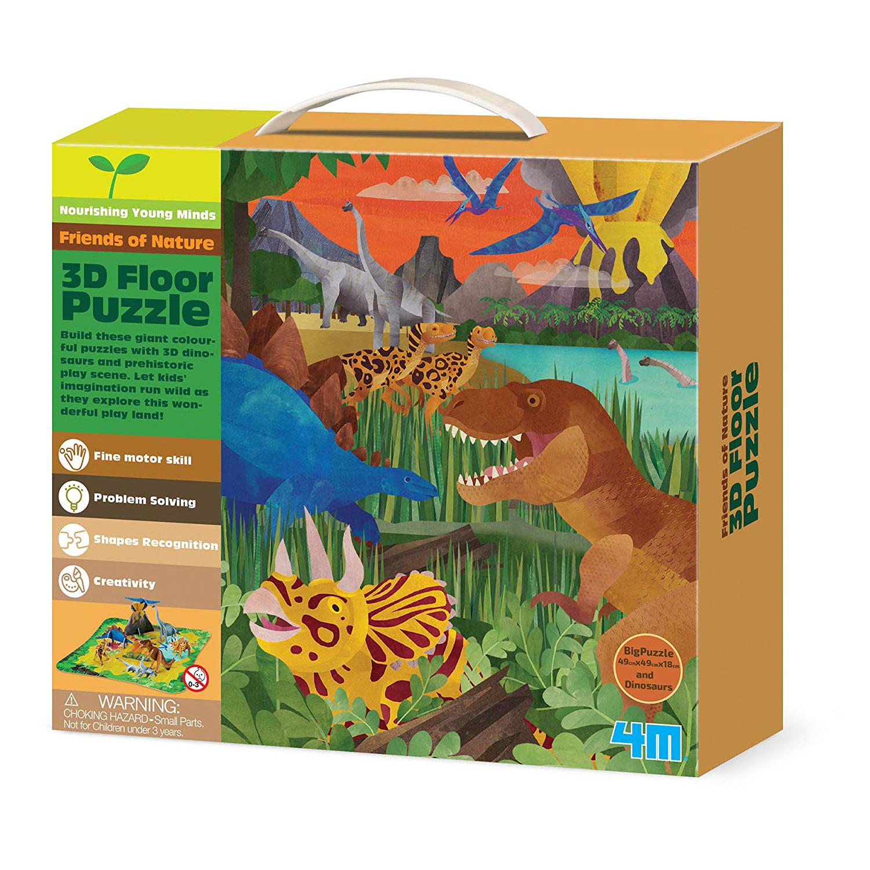 4M Friends of Nature 3D Dinosaur Floor Puzzle (54 Piece)