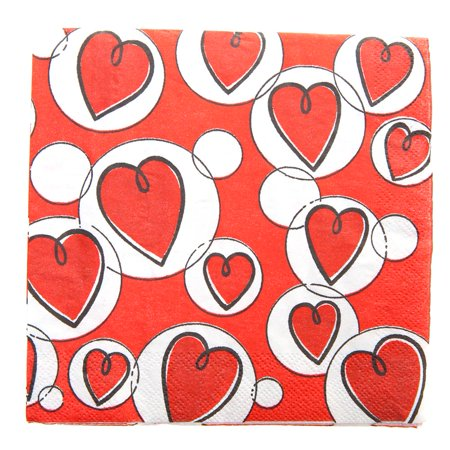 Valentine Hearts  Bubbles Lunch Napkins
