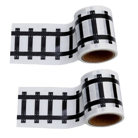 Race Car Track Road Tape Kids Toy Train Tape Sticker Roll for Cars Track and Train Sets, Stick to Floors and Walls, Quick Cleanup Road Race Motorcycle