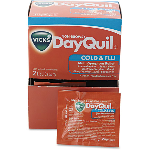 Vicks DayQuil Cold & Flu Multi-Symptom Relief Liquicaps, 25 count