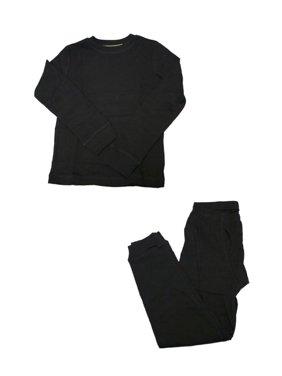 Cuddl Duds Boys' ClimateSmart Thermal Long Sleeve Crew Pants Set