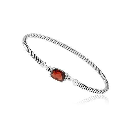 - David Yurman Petite Wheaton Garnet & Diamonds Bracelet B11194DSSAGADI