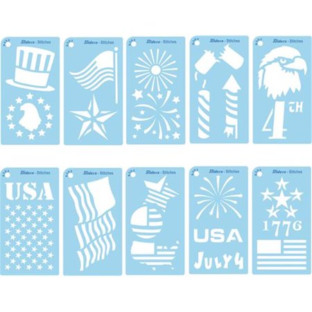 Pack of ten Patriotic Stencils (Statue Of Liberty Stencil)