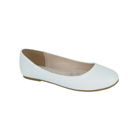 Thesis Formal Shoes Brand City Classified Women Ballet Flats Basic Slip On Round Toe White 5.5