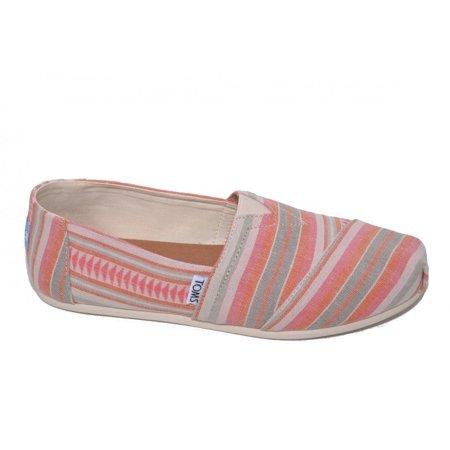 2095c04106c2d TOMS Women's Seasonal Classics Coral Blanket Stripe Loafer (9.5 B(M) US)