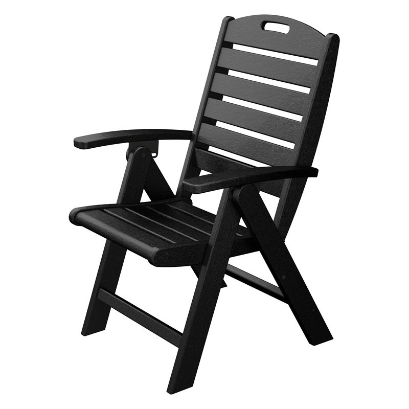 Trex Outdoor Furniture Recycled Plastic Yacht Club High Back Chair