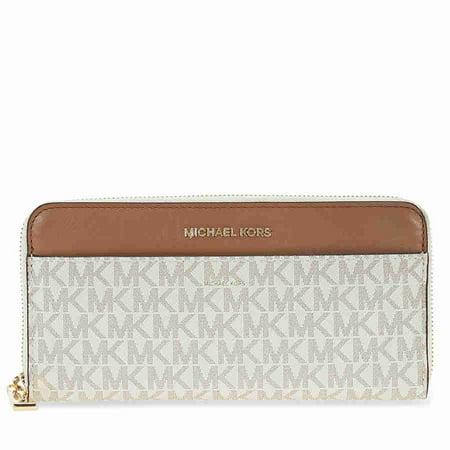 f5b202e8134a Michael Kors - Mercer Signature Logo Wallet - Vanilla - Walmart.com