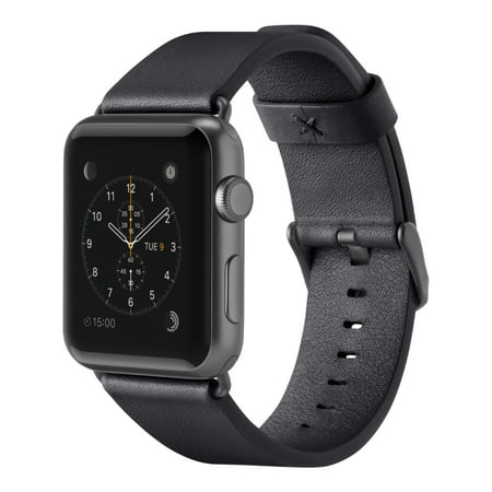 Belkin Classic Italian Leather Band for Apple Watch - 38mm - Black Belkin Classic Leather Wristband for Apple Watch Edition,Apple Watch Nike+,Apple Watch Series 1,Apple Watch Series 2,Apple Watch Series 3, Apple Watch Sport, Black