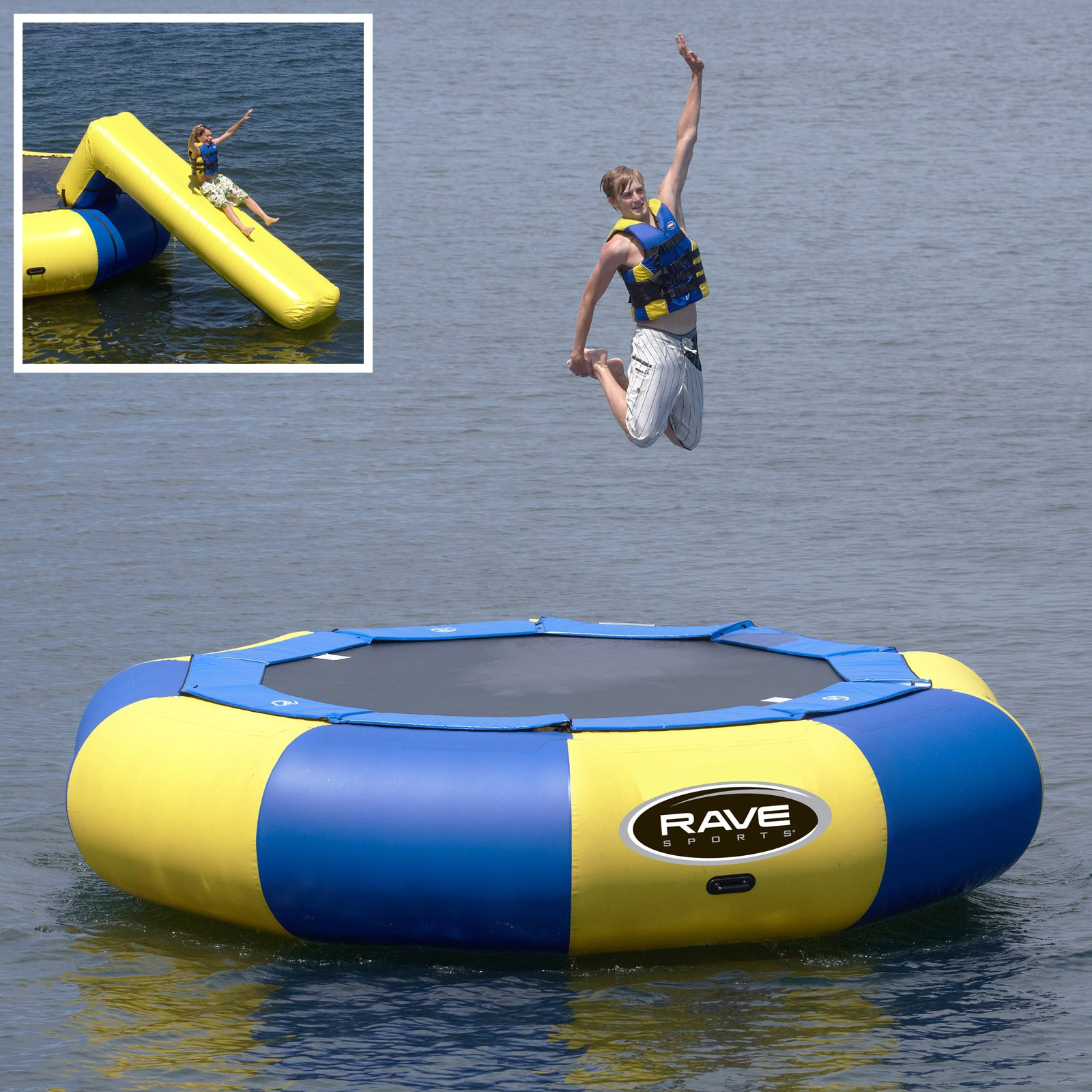 15 ft. RAVE Sports Aqua Jump Eclipse Water Trampoline Package