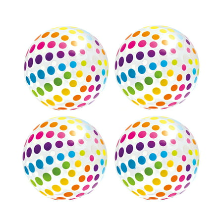 Intex Jumbo Inflatable Big Panel Colorful Giant Beach Ball (Set of 4) | 59065EP - Rainbow Beach Ball