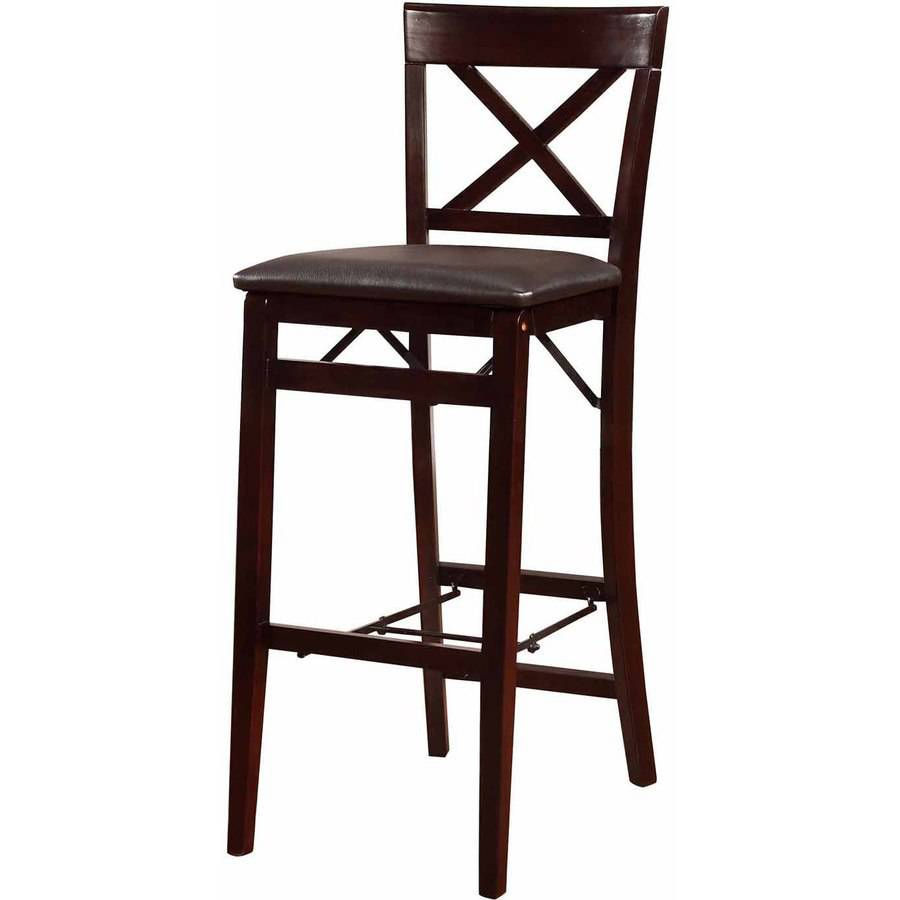Linon Triena X Back Folding Bar Stool 30 Inch Seat Height